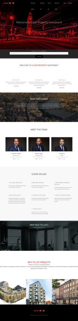 clear investments website preview