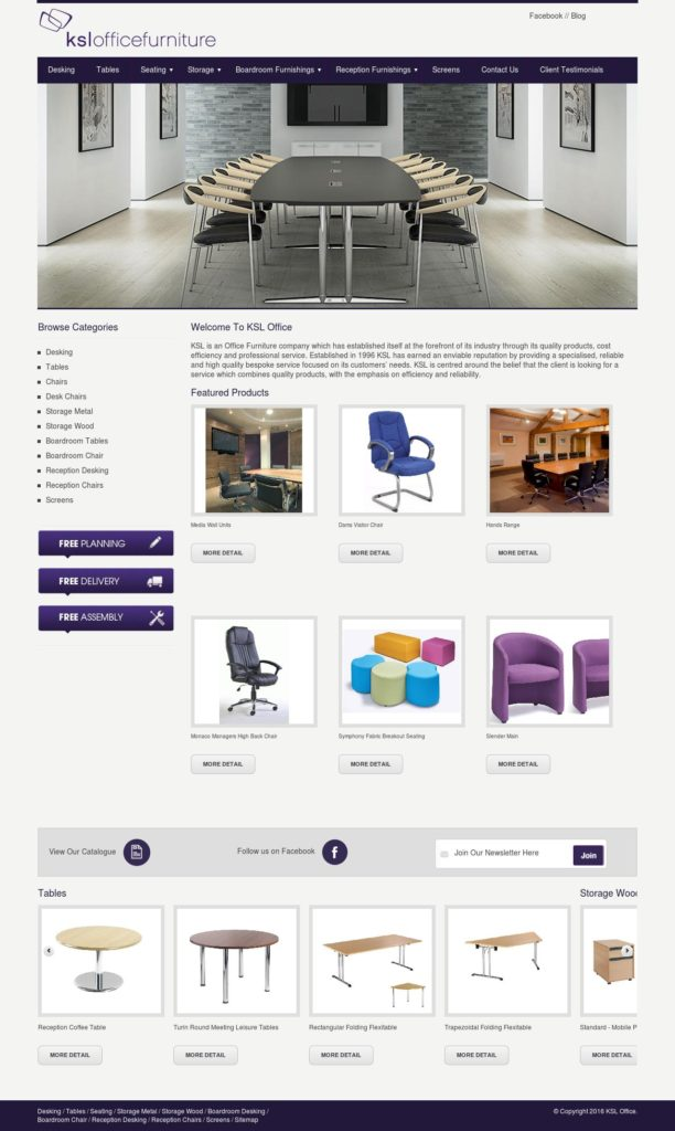 ksl office furniture website